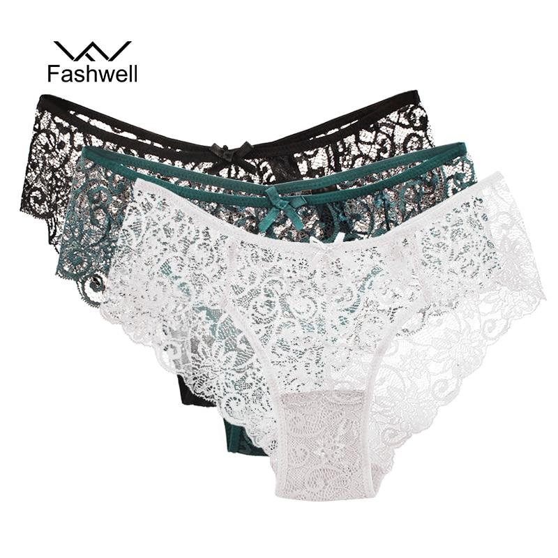 Fashwell New Transparent Plus Size Lace Women's Panties Underwear Women black Soft Briefs Sexy Lingerie Low Waist 3 pieces/lot panties underwear women pantieslace women panties - AliExpress