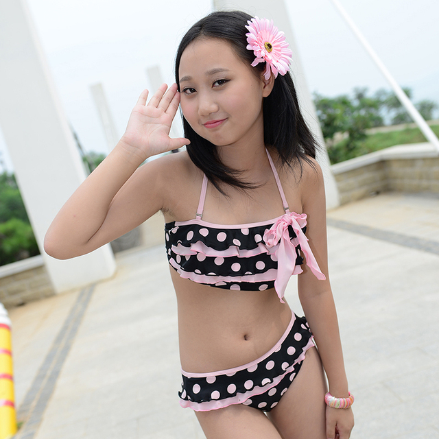 2015 novo sexy biquíni swimwear menina de biquíni biquínis definir grils 9  12 14 anos de