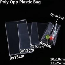 Clear เปิดถุงพลาสติกสำหรับคุกกี้ Candy Toy เครื่องประดับอาหารบรรจุภัณฑ์ถุง Christmas Birthday Party DIY กระเป๋า Poly OPP กระเป๋าของขวัญ