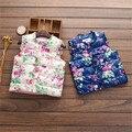 Transporte rápido de Alta Qualidade Roupas de Bebê Novo 2016 Coreano Bonito Impressão Ocasional Colete Quente Casaco Outwear Meninas Do Bebê Roupas de Outono & inverno