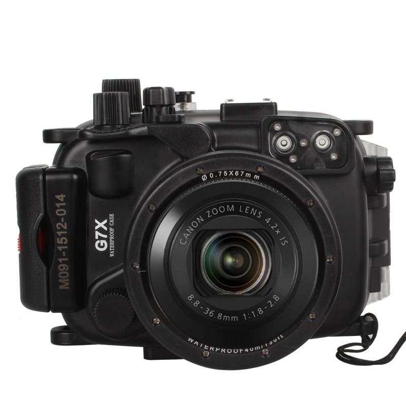 40M /130FT Waterproof Underwater Housing Camera Diving Case for Canon G7X Lens WP-DC54 G7X mcoplus 40m 130ft camera underwater housing waterproof shell case for nikon j5 10mm lens