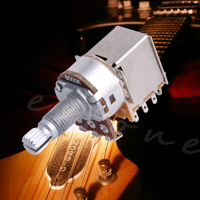 1Pc B500K Control Pot Electric Guitar Push Pull Ascend Bass Control Switch Pot Musical Instruments