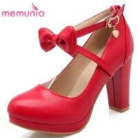 MEMUNIA 2017 Hot Sale New Arrive Women High Heels Shoes Summer Shoes Fashion Bowknot Pointed Toe