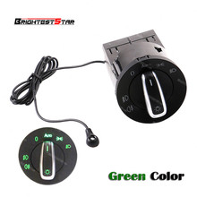 Skoda Green AUTO Headlight Head Lamp Switch Light Sensor Module Upgrade Chrome For Fabia 2014 2013 2012 2010 2009 2008