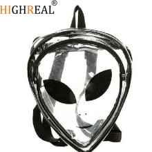 HIGHREAL Unique Design Aliens bag Harajuku styles aliens hologram backpack Men/Women hologram Backpack transparent bag