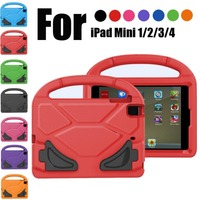 For IPad Mini EVA Foam Shockproof Case Children Kids Handle Stand Protective Cover Case For Ipad
