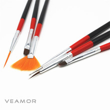 6pcs Nail Art Drawing Painting Set Tool Brushes Design UV Gel Acrylic Brush Pen Kit Art Set UV Gel Brush Nail art Lowest Price