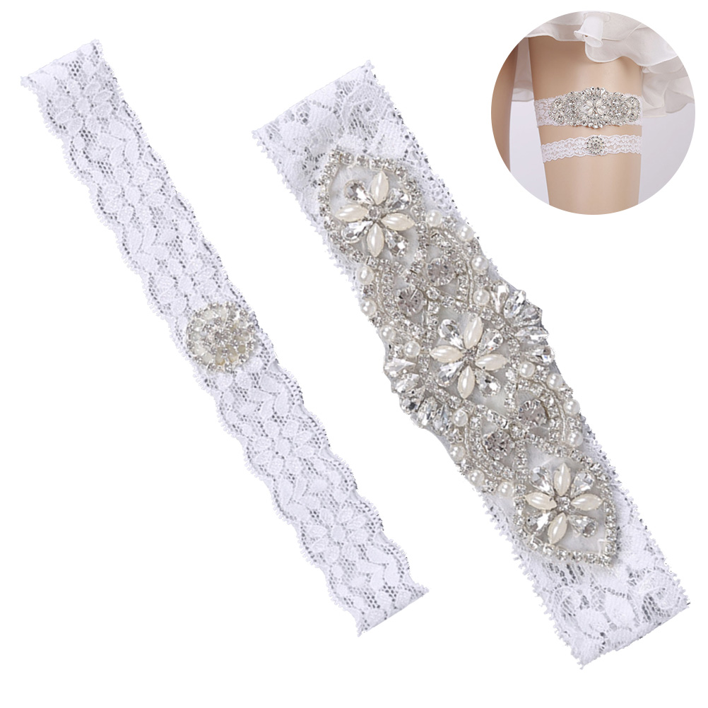 Where To Buy A Garter For Wedding: Aliexpress.com : Buy Lace Rhinestone Pearl Garters Bridal