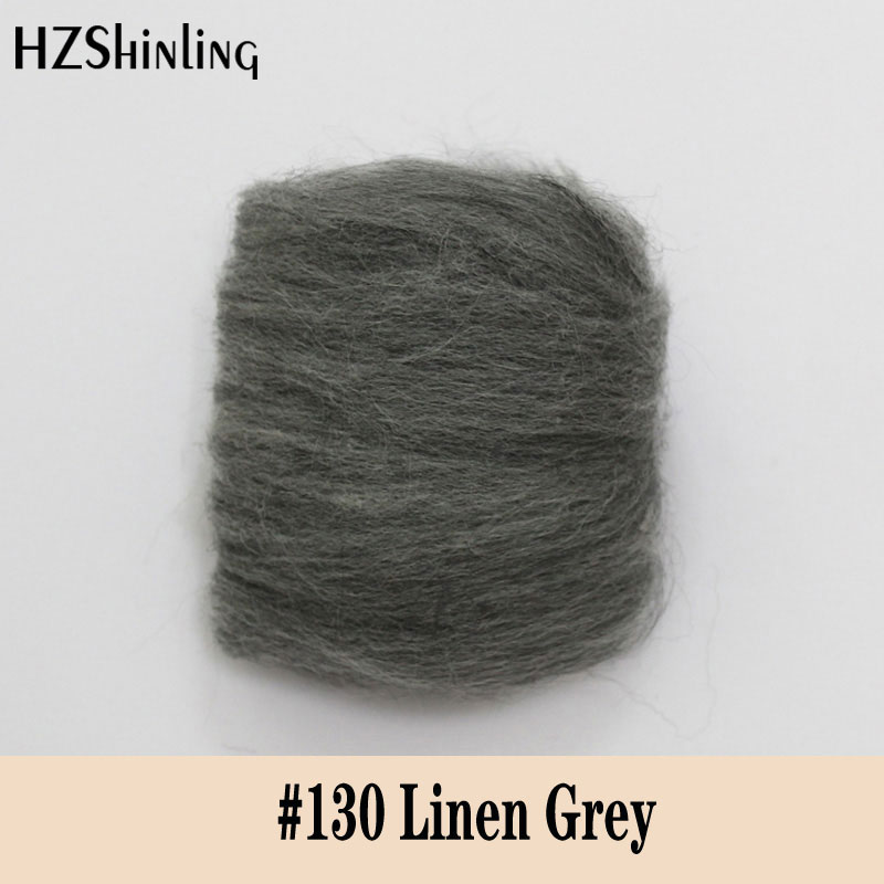 5 G Super Soft Felting Short Fiber Wool Perfect In Needle Felt And Wet Felt Linen Grey Wool Material DIY Handmade