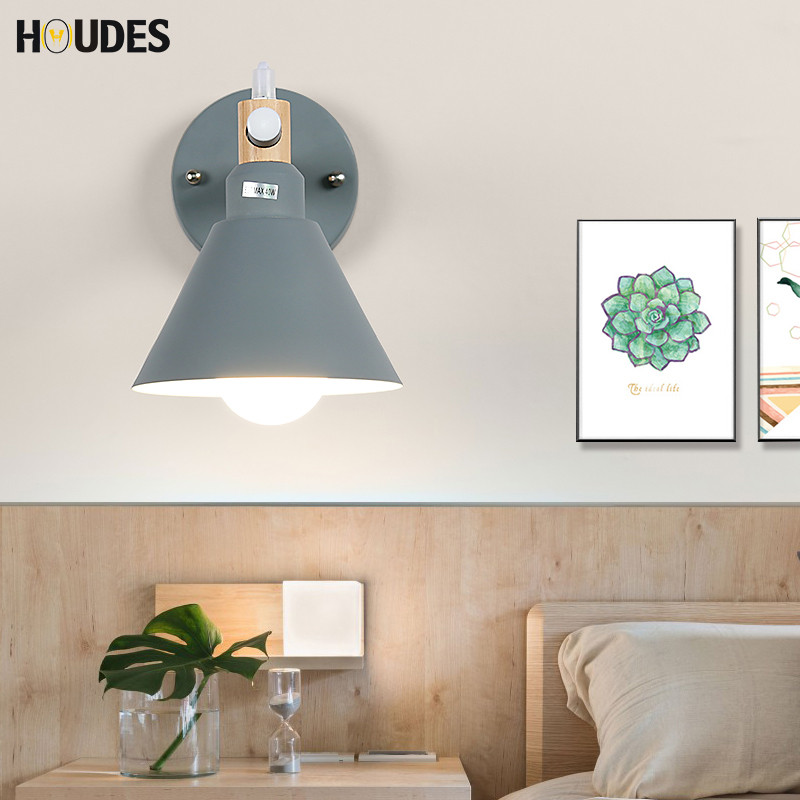 Nordic simple style Wooden wall lamp bedroom bedside lamp aisle wall lights reading room lighting restaurant lighting E27 chinese style classical wooden sheepskin pendant light living room lights bedroom lamp restaurant lamp restaurant lights