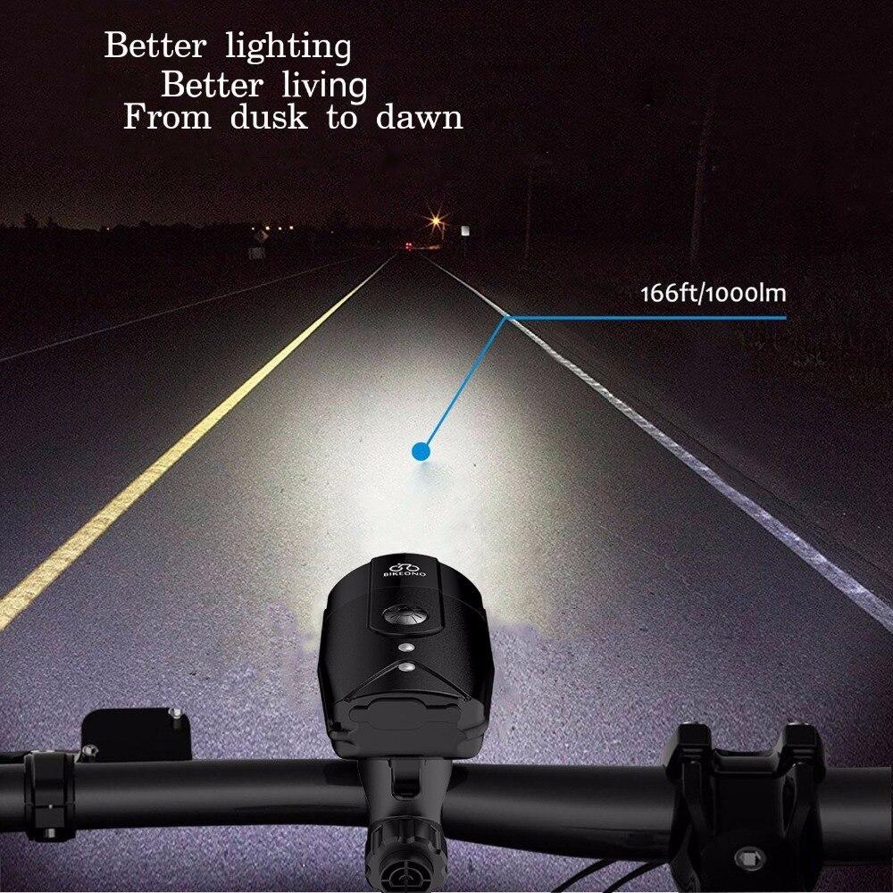 BIKEONO 1200 люменов велосипедные фары светодиодные задние фонари USB Перезаряжаемый Фонарик MTB велосипедный фонарь для велосипедной лампы