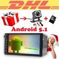 7 pulgadas 2 din gps radio de coche 2din Android 5.1.1 Quad núcleo de la Unidad Principal 1024*600 HD Incorporado de Navegación GPS autoradio de visión trasera cámara