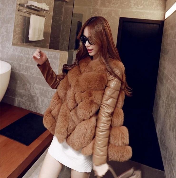 Nouvelles light Blanc Pour Nombreux camel Taille L'hiver Réel Red Luxe Femme Chaud Big Fourrure De Pardessus Manteau Renard Grey Dames q1TzHtx5