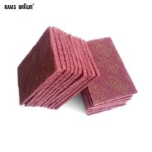 """21 pezzi 5 """"* 8"""" 7447 8698 7448 Scotch Brite Flessibile Non tessuti A Mano Pad per Acciaio acciaio inox Metalli Vernice di Legno di Plastica di Lucidatura"""