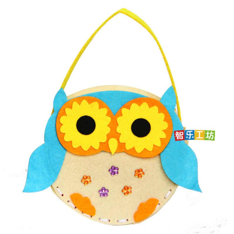 4 шт./упак. Детские DIY Нетканые тканевые сумки мультфильм животных цветок ручной работы швейная сумка развивающие игрушки творческие подарки