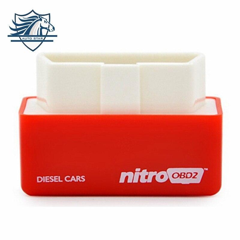 Бесплатная доставка NitroOBD2 бензин чип-тюнинг автомобиля коробка подключи и Драйв OBD2 чип тюнинг коробка больше мощности/больший крутящий мом...