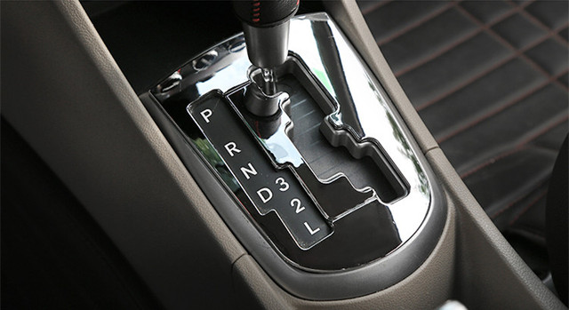 Accessories for Hyunda Solaris Verna Automatic gear panel  ABS Chrome sequins  trim 2pcs