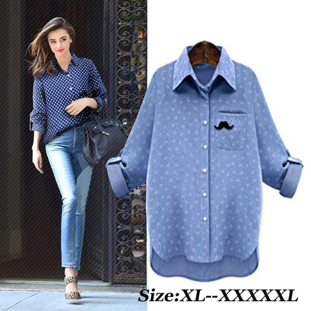 Aliexpress.com : Buy 2015 Summer Dark Blue Jeans Shirt Women Plus ...