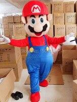 Высокое качество Супер Марио и Луиджи Маскоты костюм для взрослых Размеры Бесплатная доставка