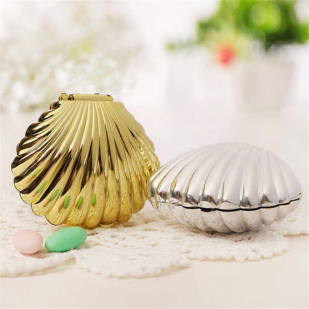 1pc Shell Wedding Favor Box Casamento Wedding Favors And Gifts Wedding Decoration MariageWedding Candy Box