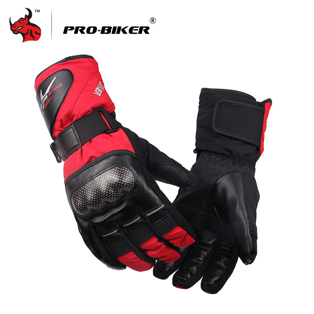 PRO-BIKER Winter Thermal Warm Motorcycle Gloves Wearable Anti-skidding Sprot Moto Gloves Motocross Off-road Gloves Ski Gloves pro biker motorcycle riding gloves breathable motocross off road racing moto full finger gloves with stainlesssteel injection