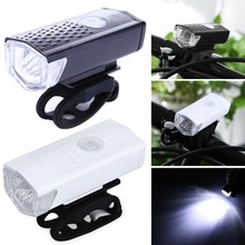 Rechargeable USB LED Bike Headlight Front Light 300LM Bike Waterproof 6000K Bicycle Flashlight Cycling Lantern Front Lights led flashlight usb bike light lantern bicycle lights front headlight with battery lamp cycling mtb torches bike accessories