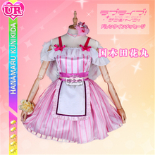 Anime Love Live Sunshine AZALEA GALAXY Cosplay Costume Hanamaru Kunikida Pink Dress Full sets A love live sunshine aqours anime kanan mari chika yoshiko ruby dia hanamaru kunikida happy party train birthday rubber keychain