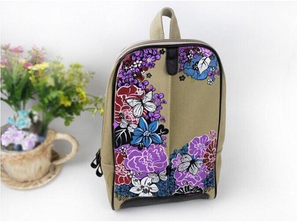 Canvas Rucksack Sırt çantası məktəb kitabı Çin Moda Retro Stil - Bel çantaları - Fotoqrafiya 2