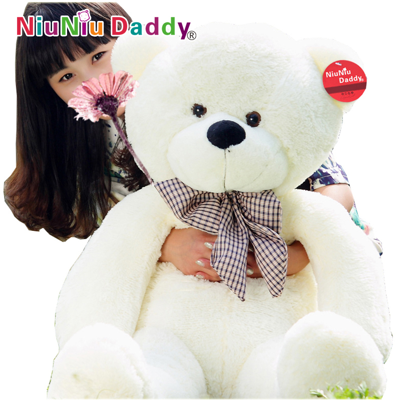 Giant teddy bear giant plush bears stuffed toys animals kid dolls with high quality 100cm/120cm 2015 New arrival Free shipping hot 60cm 80cm kawaii giant teddy bears plush soft toys stuffed animals ted dolls with ribbons girlfriend and children s gift