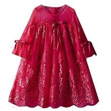 2019 Summer Style Girls Dress Kids Wedding Party Dresses Children Fancy tutu Dress Teenagers Robe Fille Enfant Lace girl clothes