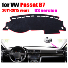 Car dashboard covers For VOLKSWAGEN VW New PASSAT B7 US Edition 2011-2015 Left hand drive dashmat dash covers auto accessories