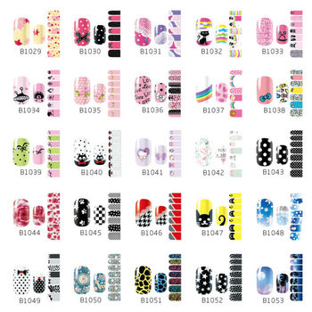Wholesale New Professional B Serial Nail Art Sticker Self-adhesive Manicure Beauty Wrap Decoration Decal 200pc/lot free shipping