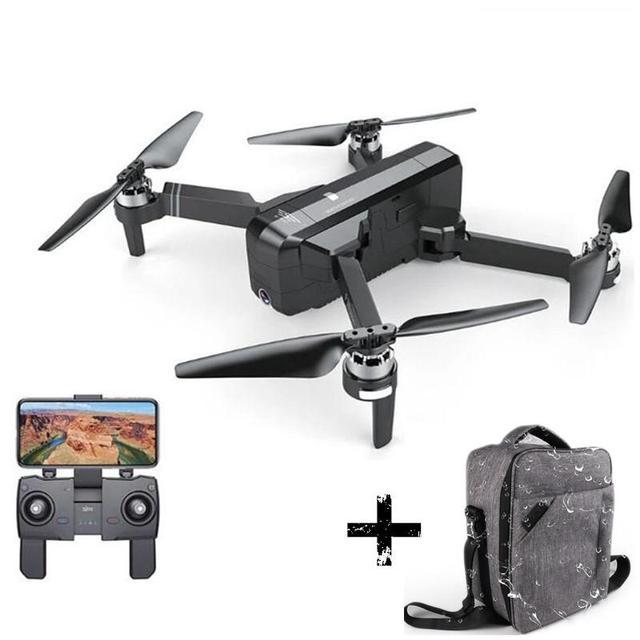 Квадрокоптер SJRC F11, GPS, 5G, Wi Fi, FPV, камера 1080P, время полета 25 минут, бесщеточный, для селфи, Радиоуправляемый, черный, аккумулятор 1080P
