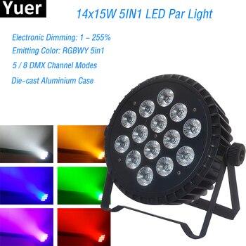 2019 New 14x15W Led Par Lights RGBWA 5IN1 Flat Par Led Dmx512 Disco Lights Professional Decorate Disco Stage Dj Equipment