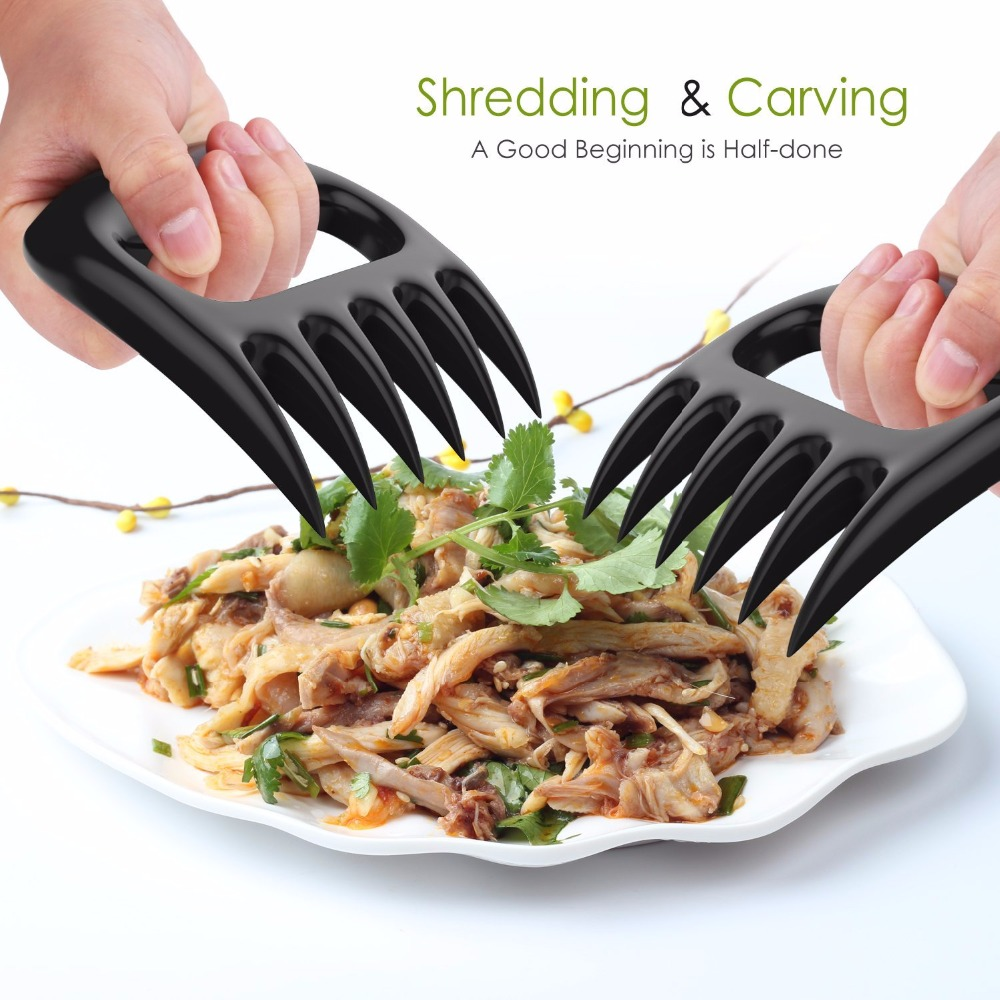 Best Utensils Meat Handler Forks 1 PC Bear Claws BBQ Meat Shredder Claws BBQ Tools Barbecue Grilling Fork Tongs Bear Paws