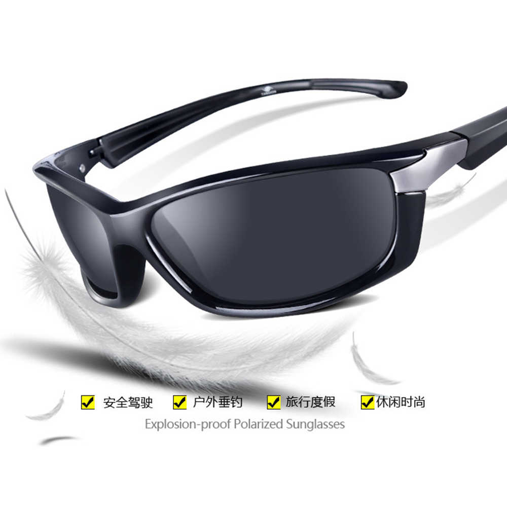 High-end Tr90 Sports Black Frame Sun Glasses Polarized Mirror Sunglasses Custom Made Myopia Minus Prescription Lens -1 to -6