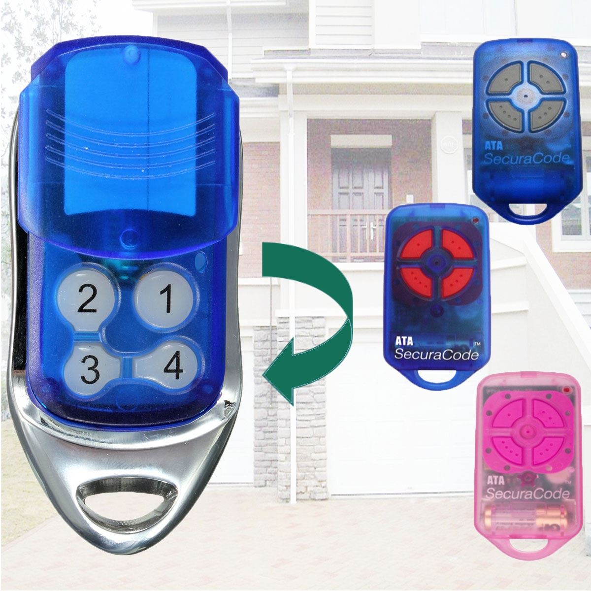 433.92 MHz Gate/Garage Door Remote Control Transmitter For ATA PTX4 SecuraCode after market ata securacode remote