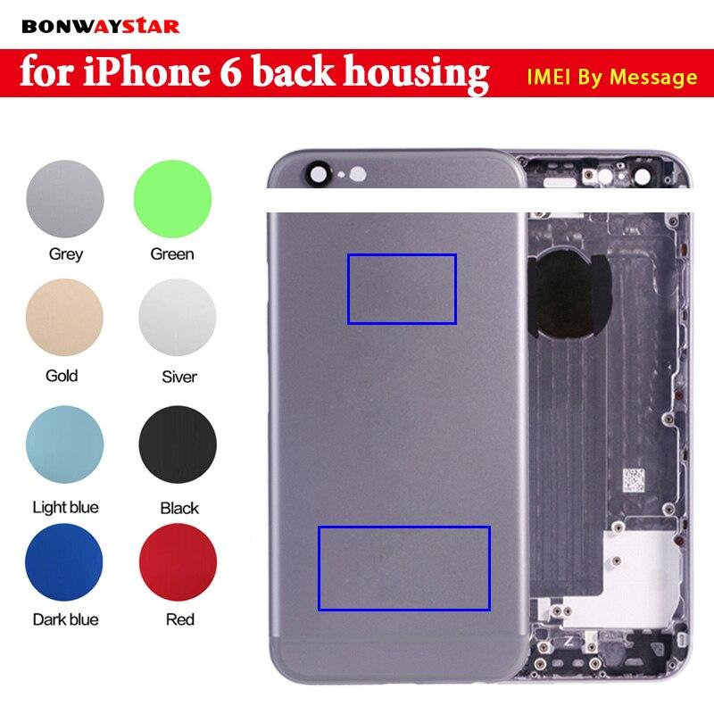 Zurück gehäuse für iphone 6 6s metall Fall Batterie Abdeckung für iphone 6 6s Gehäuse Mittel Chassis fall Ersatz können anpassen IMEI