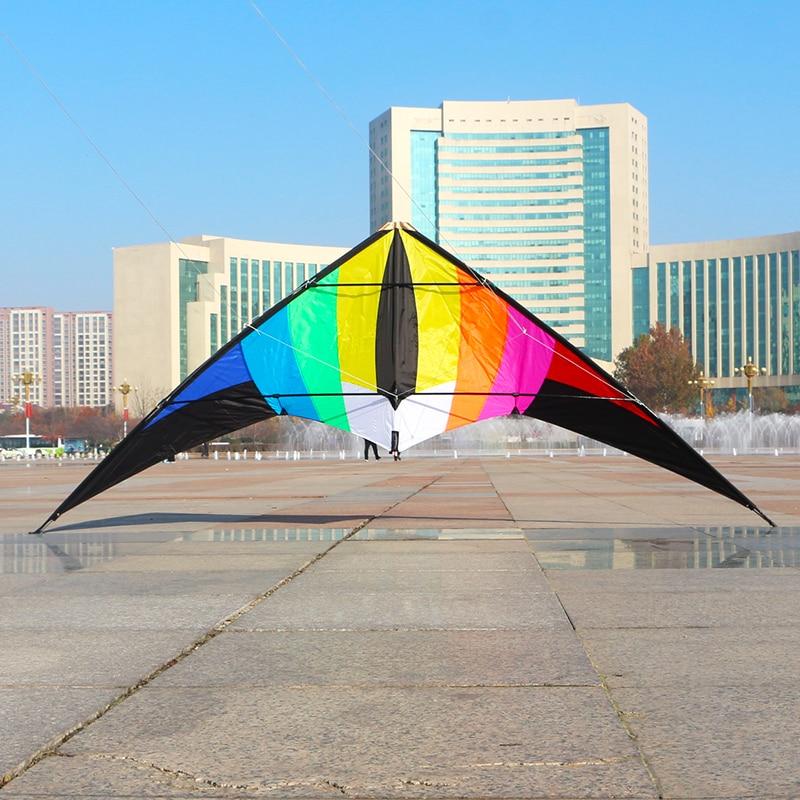 Free Shipping 2.2m Large Rainbow Kite Dual Line Stunt Kites Line Outdoor Kite Flying Toys Cometas Para Adultos Paragliding Eagle