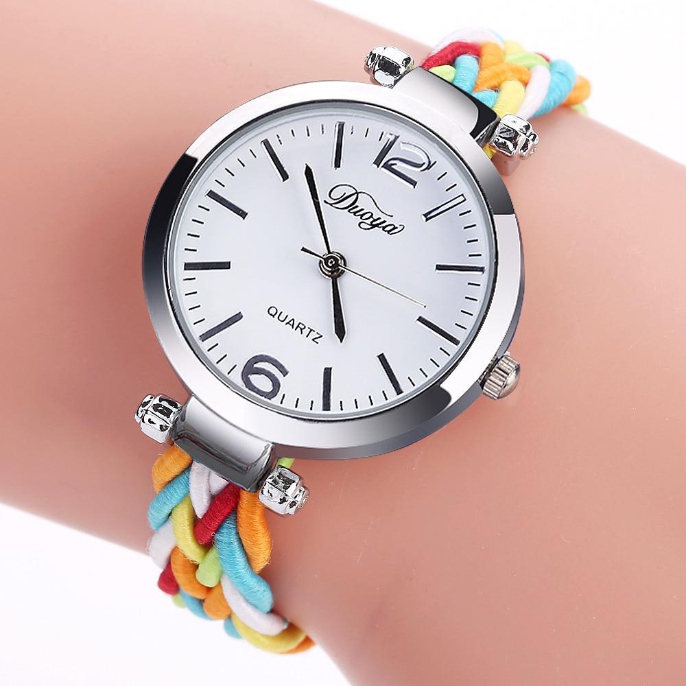Silver Bracelet Watch Women's Watches Brand Luxury Fashion Ladies Watch Women Nylon Band Quartz-watch Clock Relogio Feminino 328