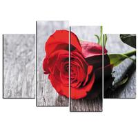 4pcs Rose Flower Canvas Oil Painting Frameless Pictures Paint Background Wall Art Decal For Home Decoration