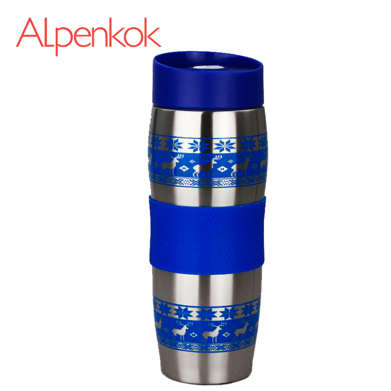 Alpenkok AK-04023A Hot cup 400ml Vacuum Flask Thermose Travel Sports Climb Thermal Pot Insulated Vacuum Bottle Stainless Steel korean penguin vacuum cup water bottle mug coffee tea stainless steel thermos food jar thermal container insulated soup holder