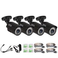 Набор из 4 шт. CCTV Камера аналоговый 960 H 1000TVL КМОП матрица с отсекающим ИК область спектра, набор из 24 штук, Ночное видение на открытом воздухе ц
