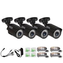 4 パック CCTV カメラアナログ 960 H 1000TVL CMOS ir カット 24 個ナイトビジョン屋外 CCTV 弾丸カメラ防水セキュリティカメラ