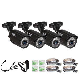 Image 1 - 4 パック CCTV カメラアナログ 960 H 1000TVL CMOS ir カット 24 個ナイトビジョン屋外 CCTV 弾丸カメラ防水セキュリティカメラ