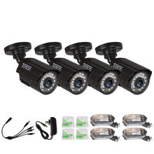 4 PACK CCTV Camera Analog 960H 1000TVL CMOS with IR Cut 24PCS Night Vision Outdoor CCTV Bullet Camera Waterproof Security Camera