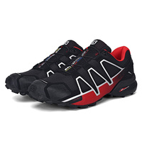 Salomon Men's Speedcross 4 CS Running Trail Shoes & Spare Quicklace Kit Bundle Trail Jogging Shoes Big Size 40 46