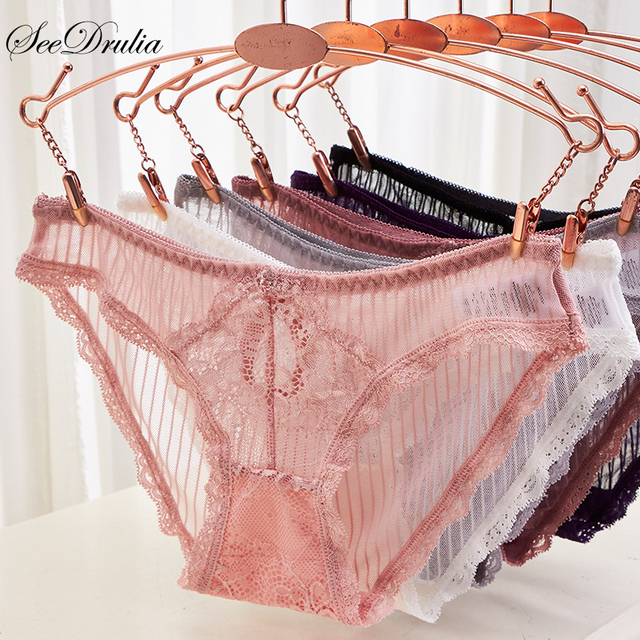 6071284ba0 2018 Sexy Seamless Panties Unique Design Low-Rise Soft Briefs Solid Color  Lady Underwear Lace Undies Knickers