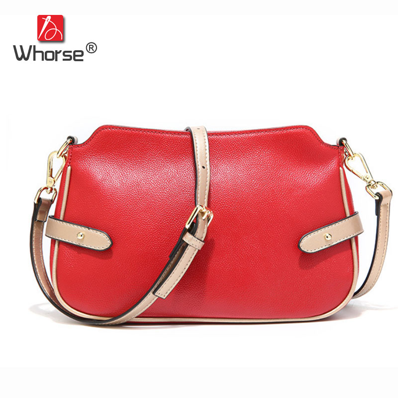 Brand Fashion Belt Real Cowhide Ladies Messenger Bags Genuine Leather Small Satchel Shoulder Crossbody Flap Bag For Women W10090 new brand genuine leather women bag fashion retro stitching serpentine quality women shoulder messenger cowhide tassel small bag