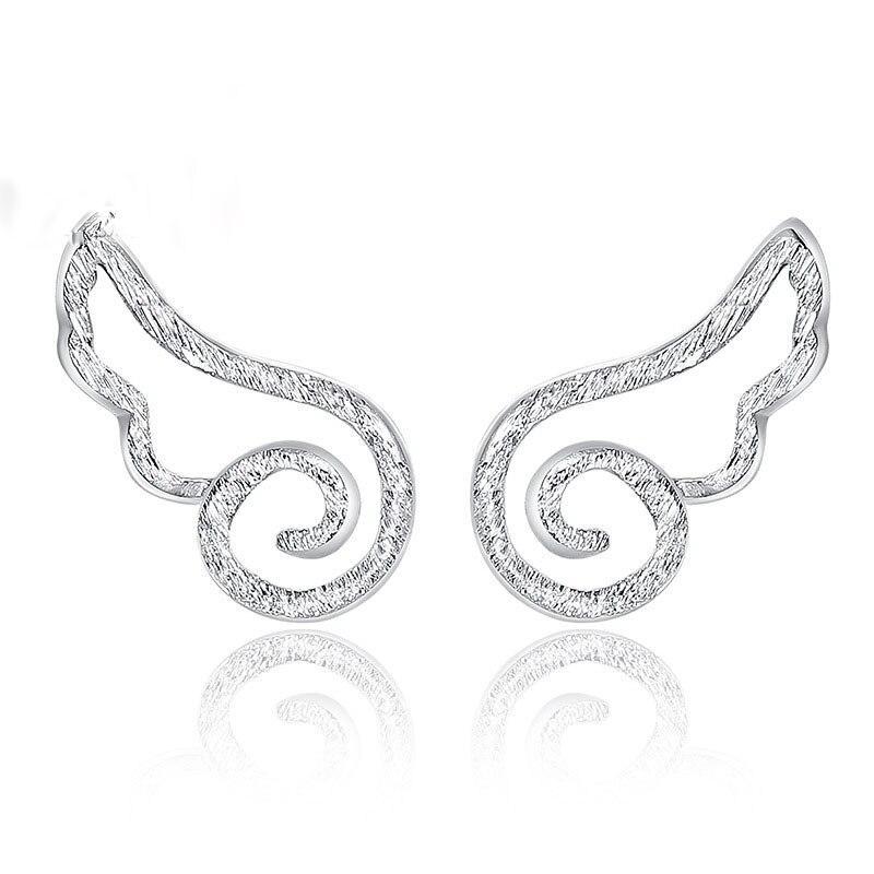 53daf08e4a9a JEXXI Venta caliente mujeres niñas moda 925 plata esterlina Stud pendientes  pendiente de las mujeres alas lindo para la joyería del partido accesorios  de ...